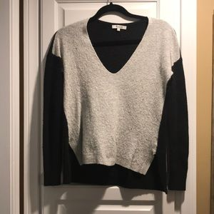 Madewell V-Neck Colorblock Sweater size S
